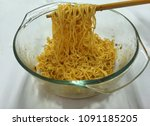 dry noodles in a bowl  a meal... | Shutterstock . vector #1091185205