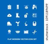 modern  simple vector icon set... | Shutterstock .eps vector #1091189699