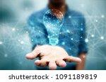 bulb future technology ... | Shutterstock . vector #1091189819