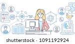 public relations   line design... | Shutterstock .eps vector #1091192924
