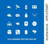 modern  simple vector icon set... | Shutterstock .eps vector #1091195687