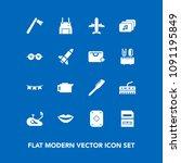 modern  simple vector icon set...   Shutterstock .eps vector #1091195849