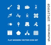 modern  simple vector icon set... | Shutterstock .eps vector #1091195939