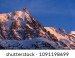 aiguille du midi needle at... | Shutterstock . vector #1091198699