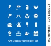modern  simple vector icon set... | Shutterstock .eps vector #1091203325