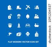 modern  simple vector icon set... | Shutterstock .eps vector #1091204537