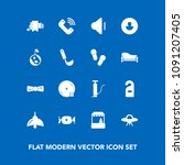 modern  simple vector icon set... | Shutterstock .eps vector #1091207405