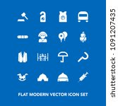 modern  simple vector icon set... | Shutterstock .eps vector #1091207435