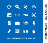 modern  simple vector icon set... | Shutterstock .eps vector #1091208689