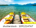 old row boats at a lake | Shutterstock . vector #1091214767