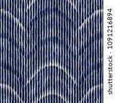 folk dyed wave stroke striped... | Shutterstock . vector #1091216894