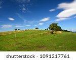 scenic rural landscape in poland | Shutterstock . vector #1091217761