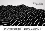 abstract wave and particle...   Shutterstock .eps vector #1091225477