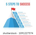 5 steps to success infographics ... | Shutterstock .eps vector #1091227574