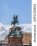 monument to nicholas i is a... | Shutterstock . vector #1091230601
