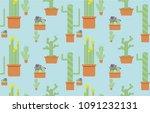 seamless pattern of five... | Shutterstock .eps vector #1091232131