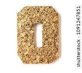 cork. alphabet.letter o  on... | Shutterstock . vector #1091247851