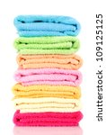 Colorful Towels Isolated On...