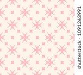 subtle minimal floral pattern... | Shutterstock .eps vector #1091263991