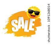 yellow paint with sun and...   Shutterstock .eps vector #1091268014