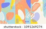creative doodle art header with ...   Shutterstock .eps vector #1091269274