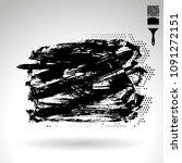 black brush stroke and texture. ... | Shutterstock .eps vector #1091272151
