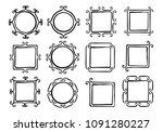 set of cute hand drawn frames... | Shutterstock .eps vector #1091280227