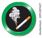 smoking area on white... | Shutterstock .eps vector #1091287637