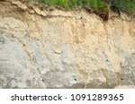 clay soil after a slide. this...   Shutterstock . vector #1091289365