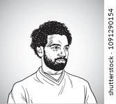 mo salah vector portrait... | Shutterstock .eps vector #1091290154