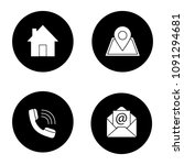 information center glyph icons... | Shutterstock .eps vector #1091294681