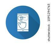 smartphone touchscreen flat...   Shutterstock .eps vector #1091294765
