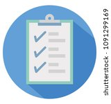 checklist report flat color... | Shutterstock .eps vector #1091299169