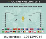 football or soccer cup wall... | Shutterstock .eps vector #1091299769