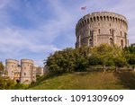 windsor castle was built in the ... | Shutterstock . vector #1091309609