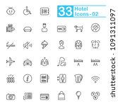 hotel services and travel...   Shutterstock .eps vector #1091311097