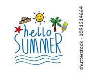 hello summer. vector...   Shutterstock .eps vector #1091314664
