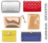 vector purse icons isolated on... | Shutterstock .eps vector #1091319755