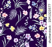 seamless pattern floral  print... | Shutterstock .eps vector #1091323577