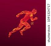 running man. emblem for...   Shutterstock .eps vector #1091324717