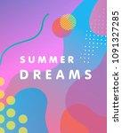 unique artistic design card  ...   Shutterstock .eps vector #1091327285