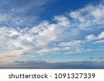 beautiful sky over the sea with ... | Shutterstock . vector #1091327339