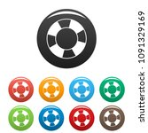 lifebuoy icon. simple... | Shutterstock .eps vector #1091329169