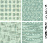 set of 4 retro seamless... | Shutterstock .eps vector #109133045