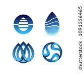 vector set of color gradient... | Shutterstock .eps vector #1091336465