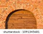 red brick arch | Shutterstock . vector #1091345681