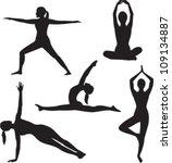 Yoga Woman Silhouette...