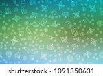 light blue  green vector cover... | Shutterstock .eps vector #1091350631