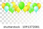 vibrant realistic helium vector ... | Shutterstock .eps vector #1091372081