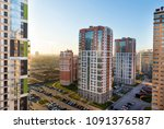 view of the residential area of ... | Shutterstock . vector #1091376587